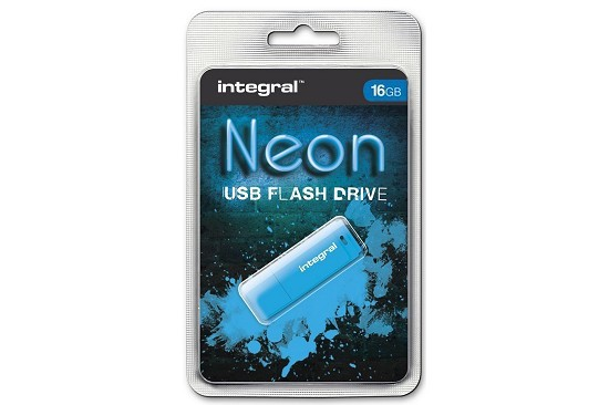 Pendrive Neon Integral 16gb USB 2.0