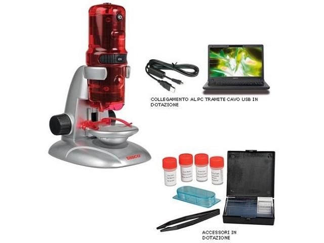 Microscopio + accessori in...