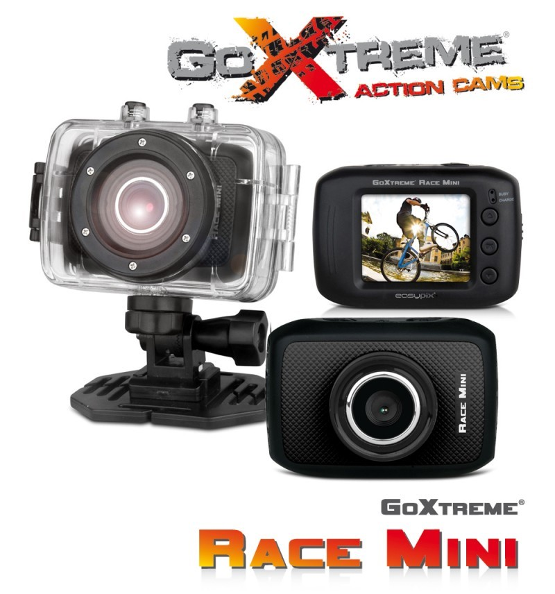 tresor action cam goxtreme race mini action cam gopro. Black Bedroom Furniture Sets. Home Design Ideas